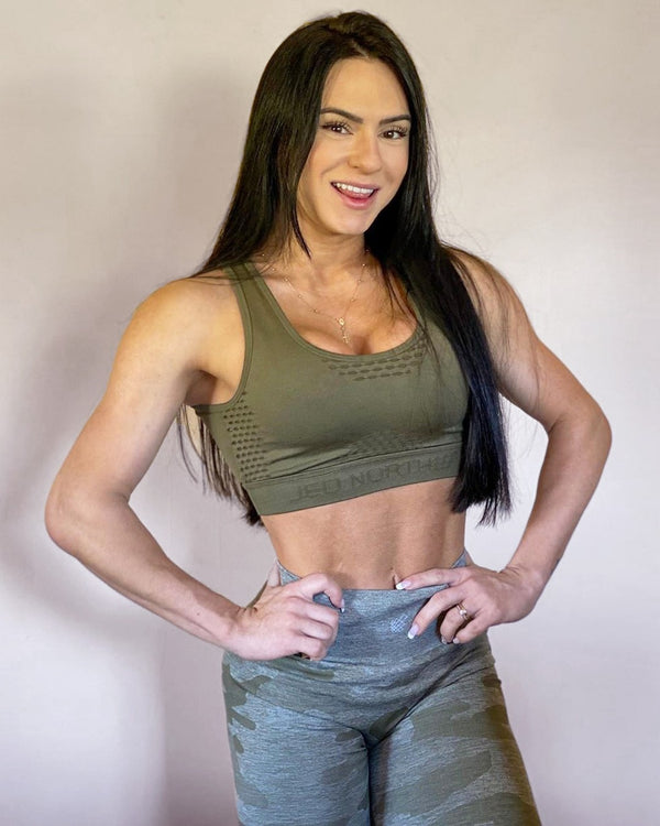 Luxe Sports Bra - Olive Green