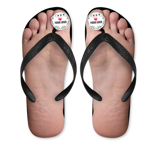 Custom Logo Photo Fun Big Toe Flip Flops