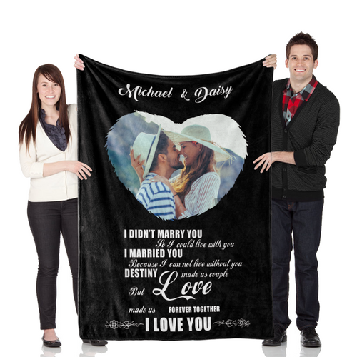 Customize Wedding Blanket ''Destiny Made Us Couple''