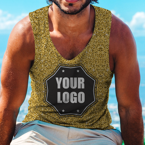 Custom Logo Tank Top Golden Light