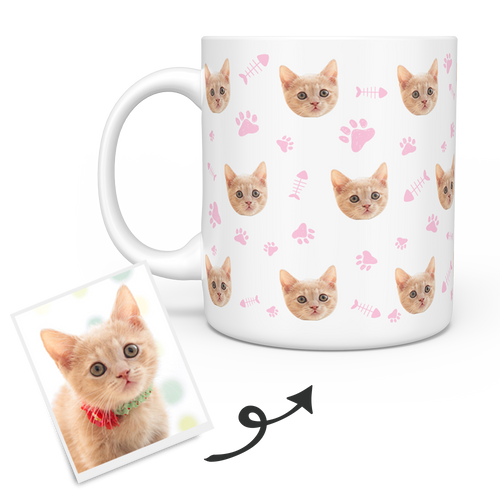 Personalized Mug With Cat Photo - Custom Cat Mug - Personalized Cat Mugs