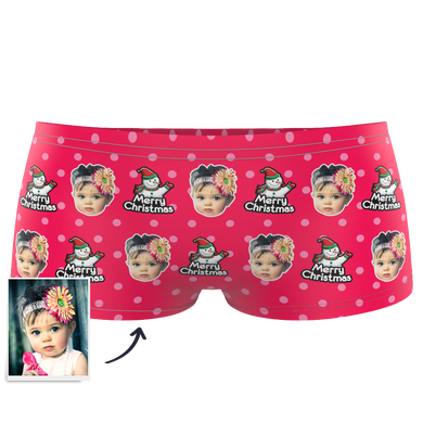 Kids Custom Face Boxer - Christmas Snowman