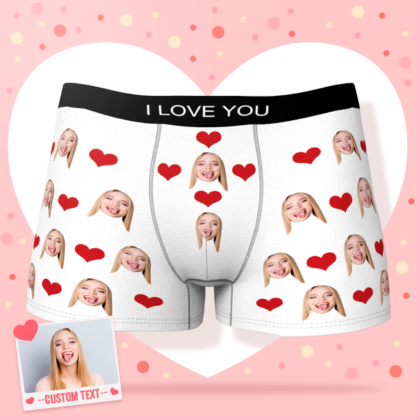 Men's Face Boxer Custom Photo Boxer Shorts with Text