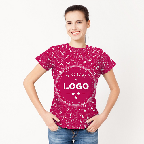 Custom Logo Shirt All Over Print Tee Company Culture T-shirt For Her - Mash Big Logo