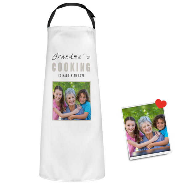 Custom Photo Apron For Grandma