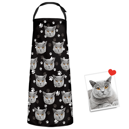 Custom Apron Photo Apron Pet Pattern Cute Cat