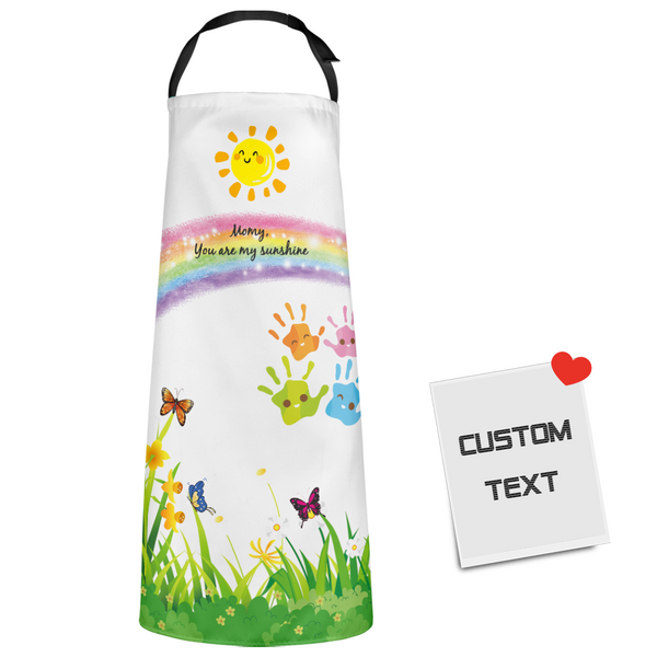 Custom Kitchen Text Apron With Your Best Wishes For Mom