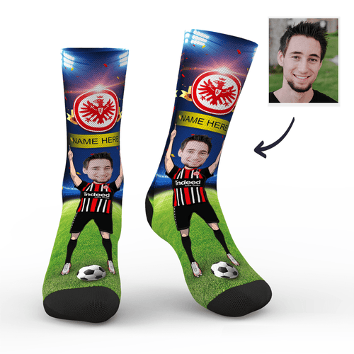 CUSTOM PHOTO SOCKS FRANKFURT SUPERFANS WITH YOUR TEXT