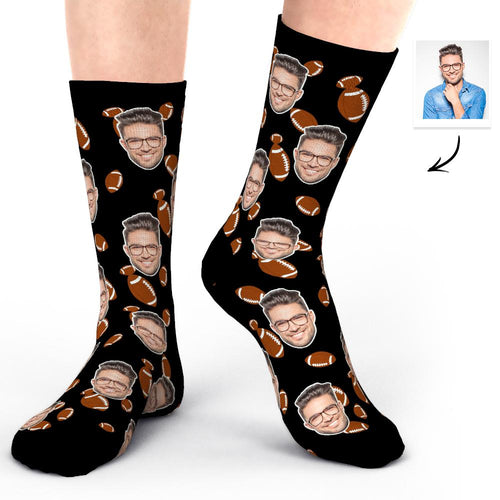 Custom Photo Socks Face Socks Super Bowl Gifts for Him-Boyfriend