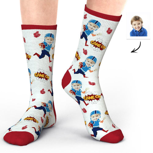 Custom Photo Socks Face Socks Super Bowl Gifts for Baby