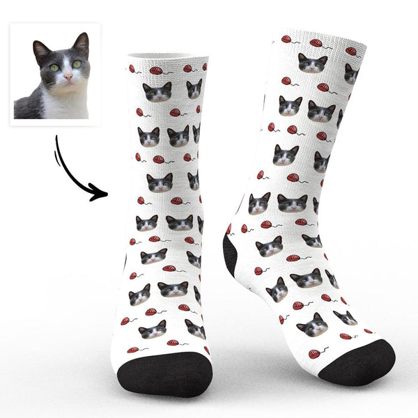 Custom Face Socks-Cat