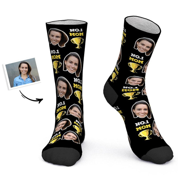 Mother's Day Gift - Custom Socks Personalized Photo Socks NO.1 MOM