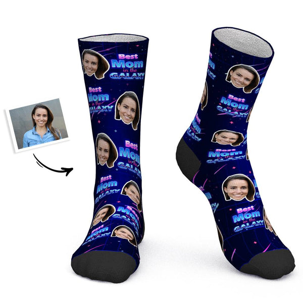 Mother's Day Gift - Custom Socks Personalized Photo Socks Best Mom in The Galaxy