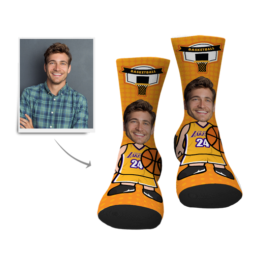 Custom Basketball Player Face Socks