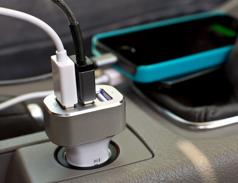 3 Slot Port USB Hub Car Charger Plug for Charging Smartphones Tablets Iphone iPad