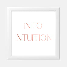 Load image into Gallery viewer, Vision Board Into Intuition 8x8 Pink Foil Print