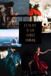 Vision Board Luxury Is My Spirit Animal 8x8 Rose Gold Foil Print