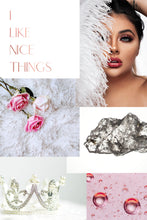 Load image into Gallery viewer, Vision Board Example I Like Nice Things White and Pink
