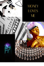 Load image into Gallery viewer, Vision Board Example Money Loves Me Gold Foil Print