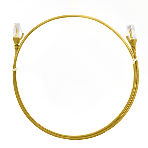 Yellow Cat 6 Ultra Thin Lszh Ethernet Network Cables