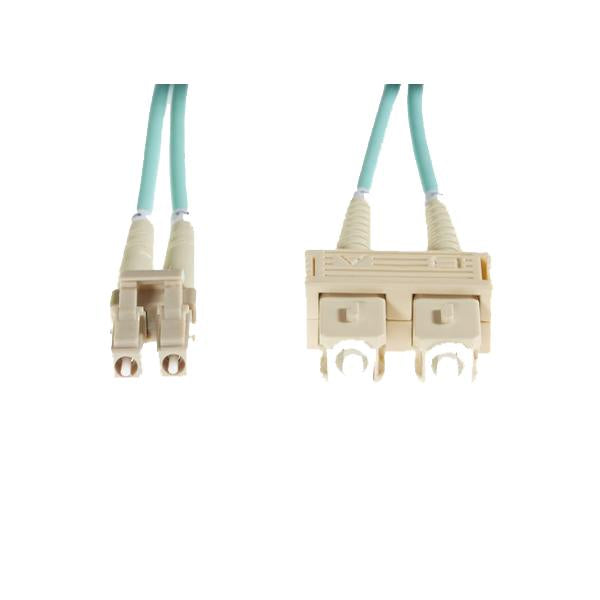 Aqua Lc-Sc Om3 Multimode Fibre Optic Cable