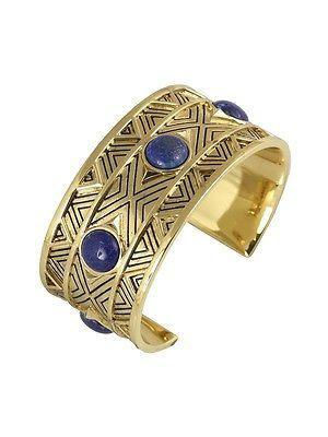 House of Harlow Dorelia Statement Cuff - Gold/Lapis