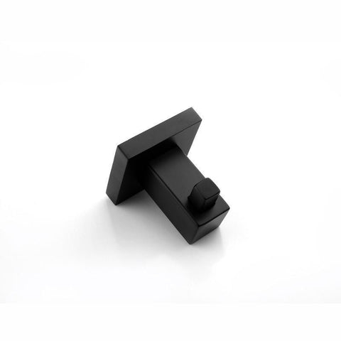 Gama Nero Square Matte Black Robe Hook Holder