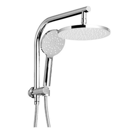 Wels Rain Shower Round Wall Arm Handheld Spray Bracket Rail Chrome