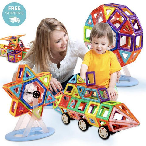 Kids Mini Magnetic Construction Building Blocks Set - Groupy Buy
