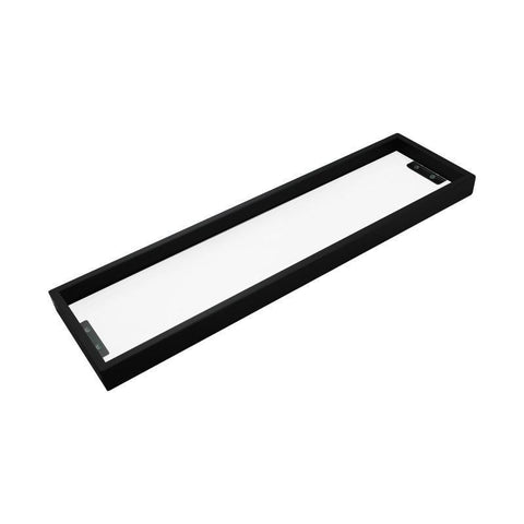 Omar Nero Square Matte Black Glass Shelf 600mm
