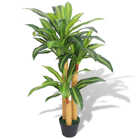 Artificial Dracaena Plant With Pot 100 Cm Green