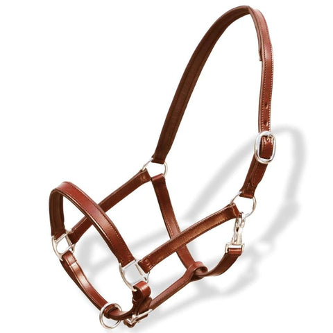 Real Leather Head Collar Stable Halter Brown