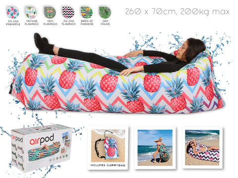Airpod Inflatable Leisure Lounge Digital Print - Pineapple