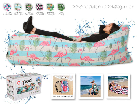 Airpod Inflatable Leisure Lounge Digital Print - Vintage Flamingo