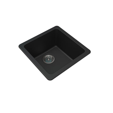 Black Granite Quartz Stone Kitchen Sinks 422 X 422 X 203 Mm