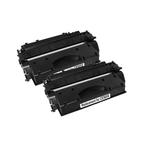 CE505X HP 05X Cart 319ii Black Premium Generic Toner Set of 2