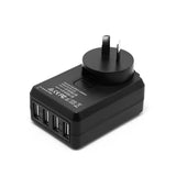4 Port USB Home Travel Wall Charger US UK EU AU AC 4.5A Power Adapter