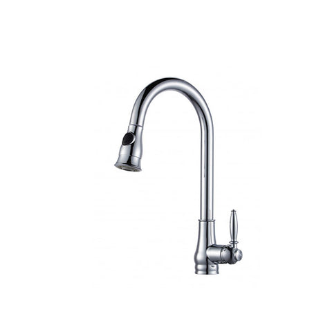Euro Round Vintage Pull Out Kitchen Sink Mixer