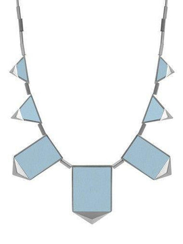 House of Harlow Classic Station Necklace Silver/Blue