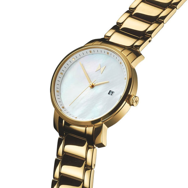 MVMT Women's 38mm Gold Pearl Watch