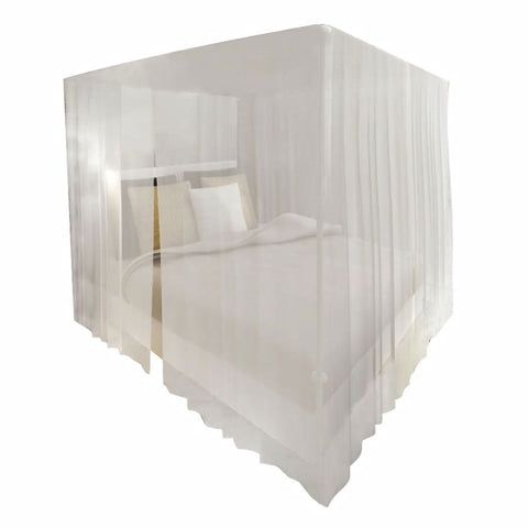 Mosquito Net Bed Set Square 3 Openings (2 Pcs)