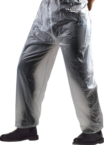 Premium Raincoat Pants Adult Male (Transparent)