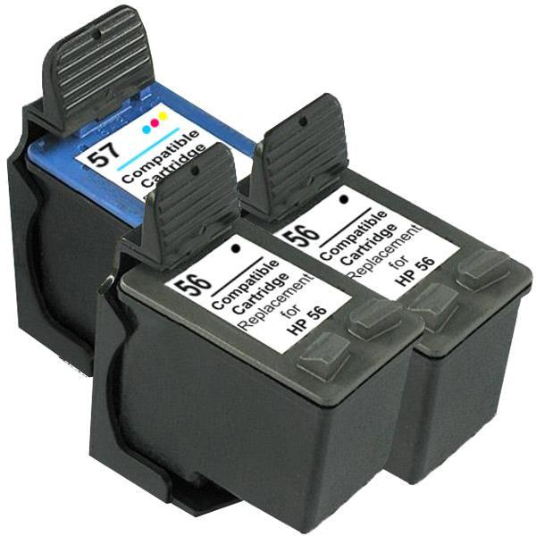 56 Remanufactured Inkjet Cartridge Set 2  3 Cartridges