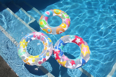 Swim Ring Printed 50cm (3 Assorted Colours)