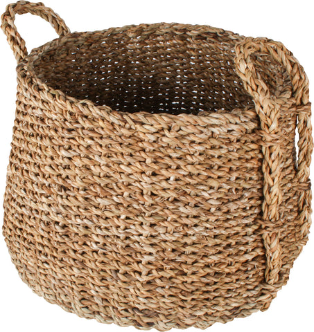 Sea Grass Dim Jhuri Design Basket (Set Of 3)