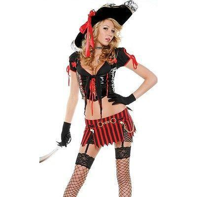 Sexy Swashbuckler Pirate Girl Costume