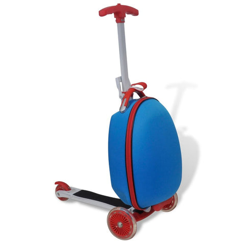 Trolley Case with Scooter for Children - Blue