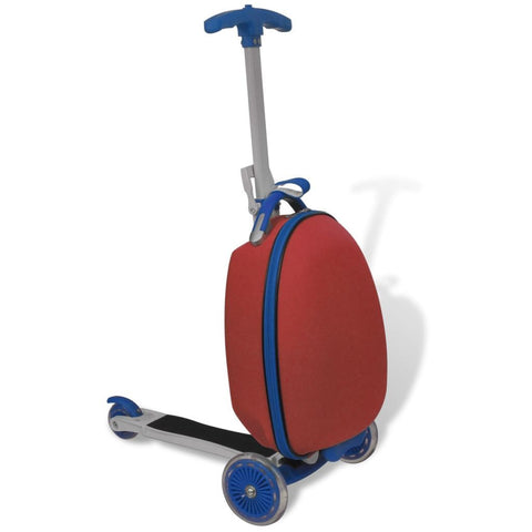 Trolley Case with Scooter for Children - Red