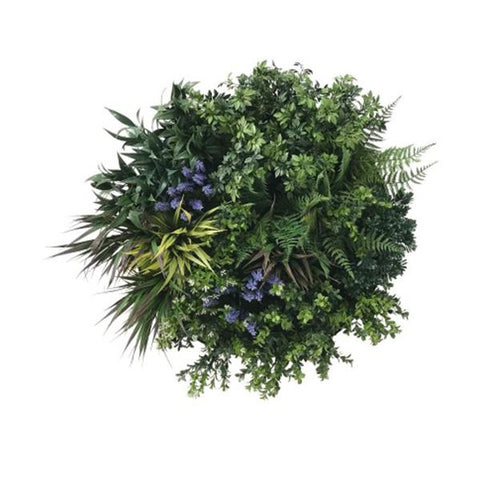 Uv Lavender Fields 60 Cm Green Wall Disc Black