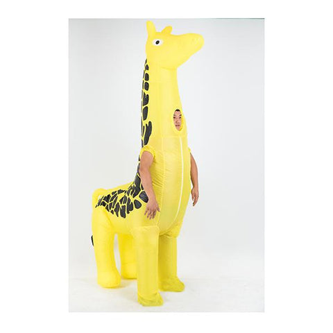 Giraffe Fancy Dress Fan Inflatable Costume Suit